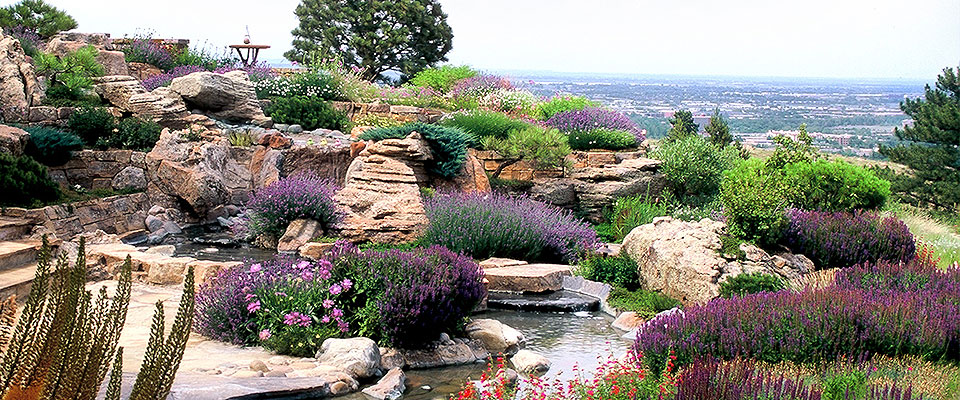 High End Luxury Garden Design Build Mountain Xeriscape Landscape
